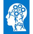 People working in gears brain vector