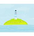 Lighthouse on the island vector