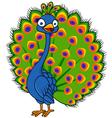 Cute peacock cartoon vector