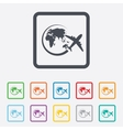 Airplane sign icon travel trip symbol vector