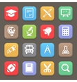 Education icons for web or mobile vector