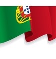 Background with waving portuguese flag vector