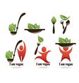 Collection of healthy eating vegetarian food vector