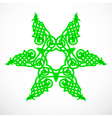 Green native ornament vector