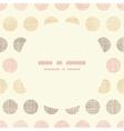 Vintage textile polka dots oval frame seamless vector