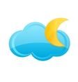 Cloud and moon sign vector