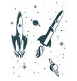 Rocket ship pattern vector