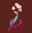 Man and woman dancing vector