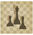 Sport chess logo old background vector