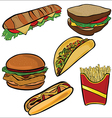 Fast food set a vector