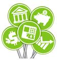 Financial business icon vector