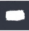White grunge label on dark textured background ep vector
