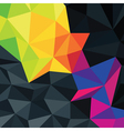Dark triangles texture with color accent vector