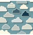 Cartoon sky with clouds vector