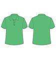 Green tshirt vector