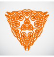 Orange native ornament vector