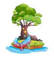 A small island vector