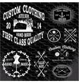 Set notation topics tailor clothing repair vector