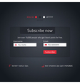 Subscribe form vector