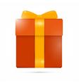 Orange present box gift box vector