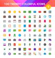 100 universal icons set 1 vector
