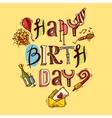 Birthday card sketch vector