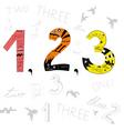 Numbers 1 2 3 vector