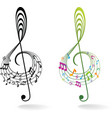 Background with music note vector