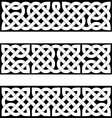 3 celtic braid patterns vector