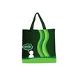 Woman purse green vector