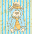 Teddy hat tie vector