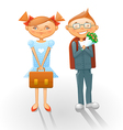 Cartoon school kids vector