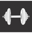 Dumbbell print vector