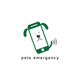 Pets emergency concept flat design vector