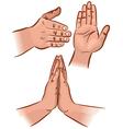 Hand gesture vector