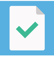 Document and tick icon vector