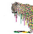 Leopard abstract painting vector