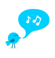Blue bird with speech bubble vector