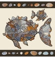 Abstract cartoon sea fish vector