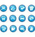 Travel button icons vector