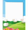 Sheeps banner vector