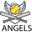 Angels baseball logo vector