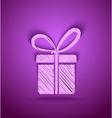 Celebration cute gift box vector
