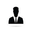 Man silhouette with tie vector