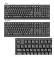 Black computer keyboards vector