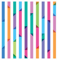 Seamless pattern from color strips with triangles vector
