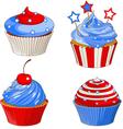 Patriotic cupcakes vector