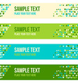 Abstract patterned banner background vector