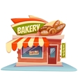 Bakery building with bright vector