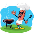 Barbecue hot dog vector